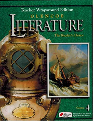 Teacher Wraparound Edition Glencoe Literature Reader S Choice