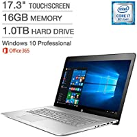 HP ENVY 17t 17.3 Touchscreen WLED-backlit IPS FHD Intel 8th Gen i7-8550U 16GB RAM 1TB HDD 4GB NVIDIA GeForce MX150 Windows 10 Pro & 1-Year Subscription for Microsoft Office 365 Personal
