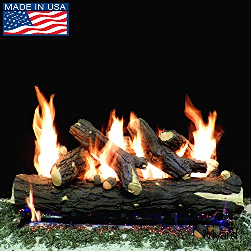Massive Oak Gas Vented Log - PayandPack Myard DELUXE Logs - 36