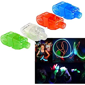Finger Lights - Led Party Finger Lasers 40 Pc | Multicolor Novelty Finger Beams Set | Bright Raving Strap on Finger Lasers | Fun Laser Pointers for Parties | Light up Toys for Fingers - 40 Pcs