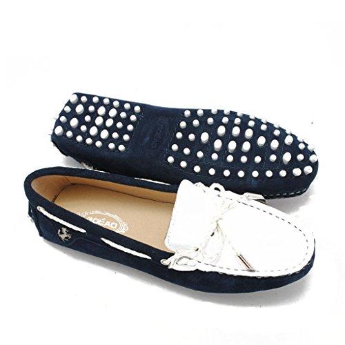 Couleurs Coutures De Femmes Bleu Travail Mocassin Conduite Appartements Meijili Chaussures Sport Deux Chaussures De Des Pois Y0qnBA1wxT