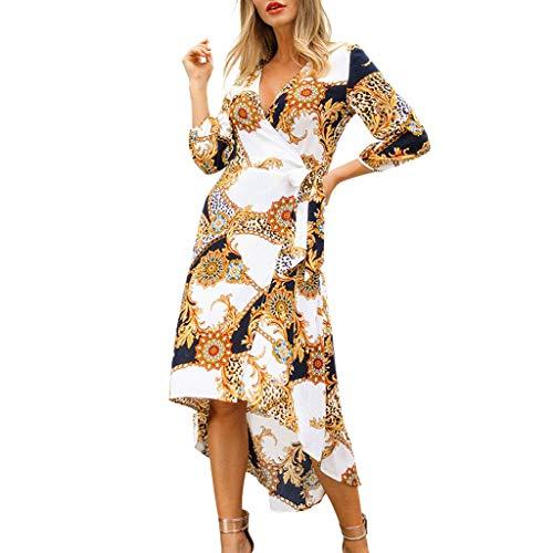 - Dresses for Womens,DaySeventh Women Fashion V-Neck Leisure Three Quarter Sleeve Printed Loose Dress