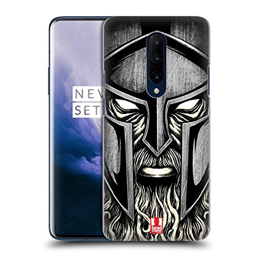 Head Case Designs Bearded Warrior Medieval Helmets Hard Back Case Compatible for OnePlus 7 ()