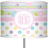 RNK Shops Girly Girl 13'' Drum Lamp Shade Polyester (Personalized)