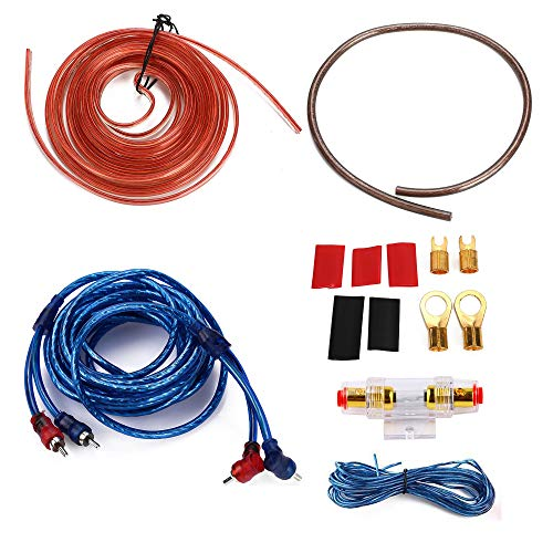 8 Gauge Amp 1500W Auto Car Audio System Speaker Kit Complete Amplifier Install Wiring Cable