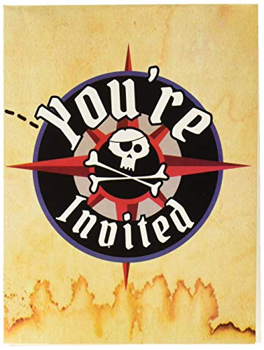 8-Count Party Invitations, Pirate