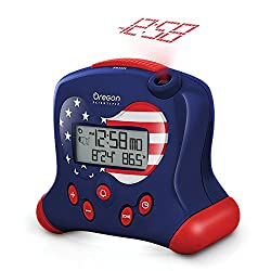 Oregon Scientific RM313PNFA Hip & Cool Atomic Projection Clock with Indoor Temperature - Special Stars and Stripes Patriot USA Flag Edition