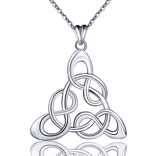 - AEONSLOVE 925 Sterling Silver Celtic Knot Infinite Love Pendant Necklace, 18'' Chain, Gifts for Women Girls
