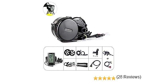 Kit de conversión de bicicleta eléctrica Mid Drive Kit Bafang BBS01B Kit de motor central 350W 36V Ebike Motor Bafang Drive System: Amazon.es: Deportes y aire libre