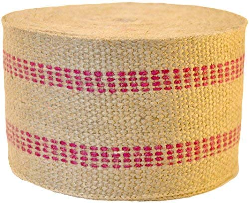Firefly Craft Upholstery Jute Chair Webbing, 3 1/2 Inches Wide (Strap Stripe Ribbon)