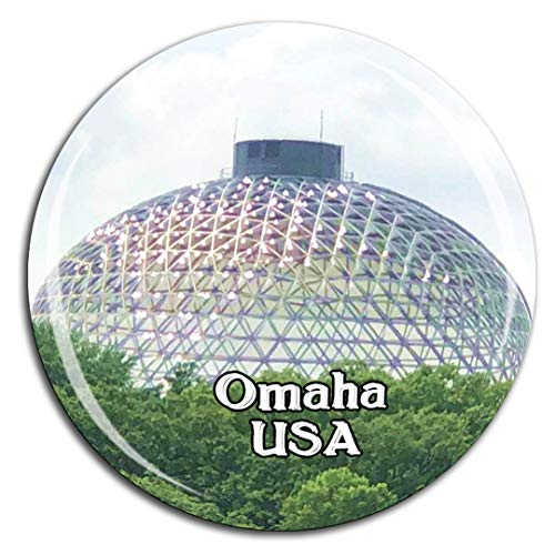 - Henry Doorly Zoo Omaha America USA Fridge Magnet 3D Crystal Glass Tourist City Travel Souvenir Collection Gift Strong Refrigerator Sticker