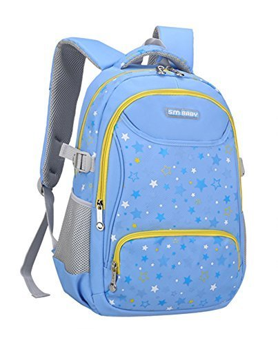 Children Nylon Star Pattern Print School Bag Backpack Travel Bag Book Bag For Teens