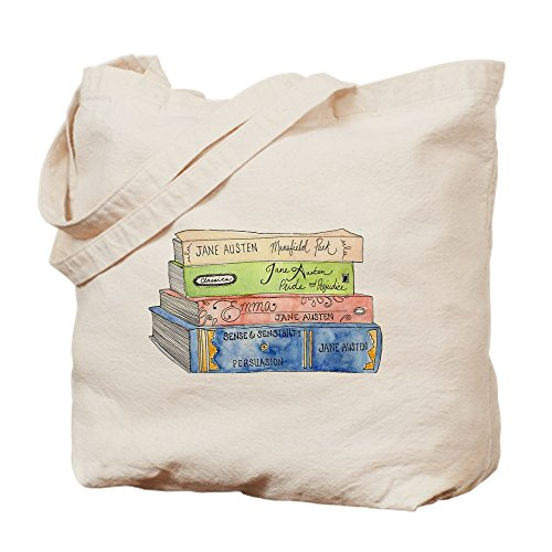 CafePress - Jane Austen Books - Natural Canvas Tote Bag, Cloth Shopping (Jane Austen Tote Bag)