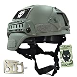 ATAIRSOFT Tactical Airsoft Paintball MICH 2000 Helmet With Side Rail & NVG Mount FG