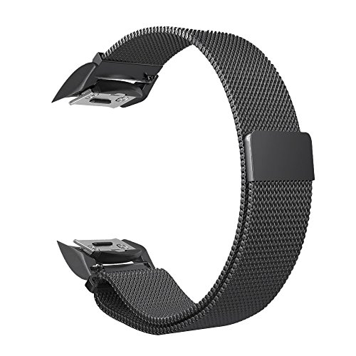 Fintie for Gear S2 Watch Band [Large], [Magnet Lock] Milanese Loop Adjustable Stainless Steel Replacement Strap Bands for Samsung Gear S2 SM-R720 / SM-R730 Smart Watch - Space Gray