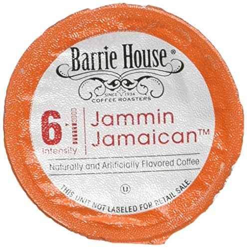 Barrie House Jammin Jamaican Flavored coffee Single Cup Capsule, 24 Count