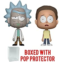 Funko Vynl: Animation: Rick and Morty Vinyl Figure 2-Pack (Bundled with Pop BOX PROTECTOR CASE)