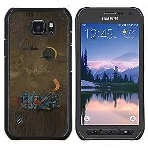 """Be-Star Único Patrón Plástico Duro Fundas Cover Cubre Hard Case Cover Para Samsung Galaxy S6 active / SM-G890 (NOT S6) ( Pintura abstracta"""" )"""