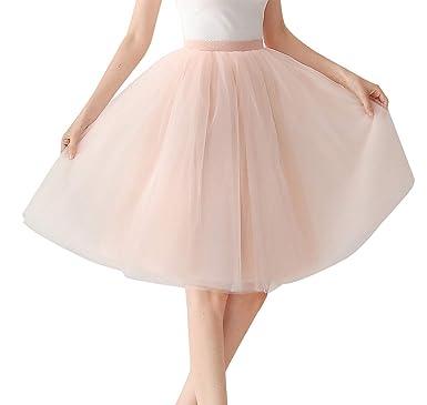 cda0f715684071 Aivtalk - Jupe Jupon Tulle Tutu Court Femme Fille Plissée Classique Danse  Soirée Bal Fête, Petticoat Skirt Moelleux Belle Couches Pure Taille ...