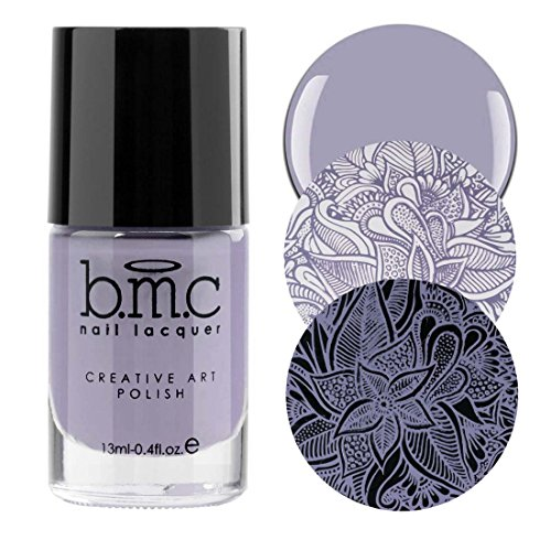 Maniology (formerly bmc) Snowflake Waltz Collection: Marzipan - Mauve Purple Cream Creative Art Stamping -