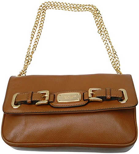 Michael Kors Hamilton Genuine Leather Small Shoulder Flap Bag Luggage by