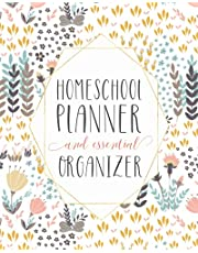 Mega Homeschool Planner and Organizer Soft Flora: Fully Customizable Planner, Organizer, and Record Keeper for Homeschool Families big or Small - Track it all, plan your year, store your important information, and journal your best memories for the year.