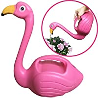 DecoDuke Flamingo Watering Can Decorative Elegant Pot for Indoor Outdoor House Plants Easy Pour Small Size Plastic 1.5L