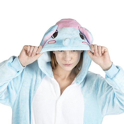 Unisex Pajamas Costume Elephant Onesie for Adults (Size:Medium) (Elephant Onesies For Adults)
