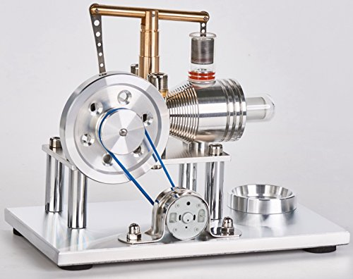 Sunnytech Hot Air Stirling Engine Motor Model Educational Toy Electricity Generator Colorful LED SC (SC02M) by Sunnytech (Image #1)