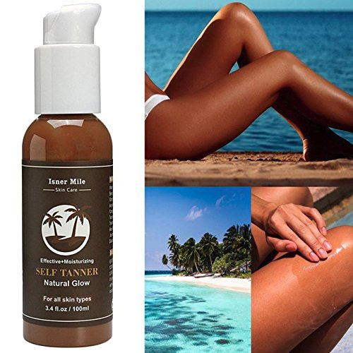 Self Tanner Sunless Tanning Lotion - Natural Healthy Beautiful Golden Glow for Body & Face, Gradual & Even Buildable Bronzer, Light Medium or - Tanning Care Skin Lotion