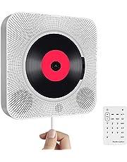 Draagbare cd-speler met bluetooth, aan de muur te monteren ingebouwde hifi-luidsprekers, thuis-audioluidspreker met afstandsbediening, FM-radio, USB MP3, AUX-in/uitgang van de 3,5 mm-hoofdtelefoonaansluiting, wit
