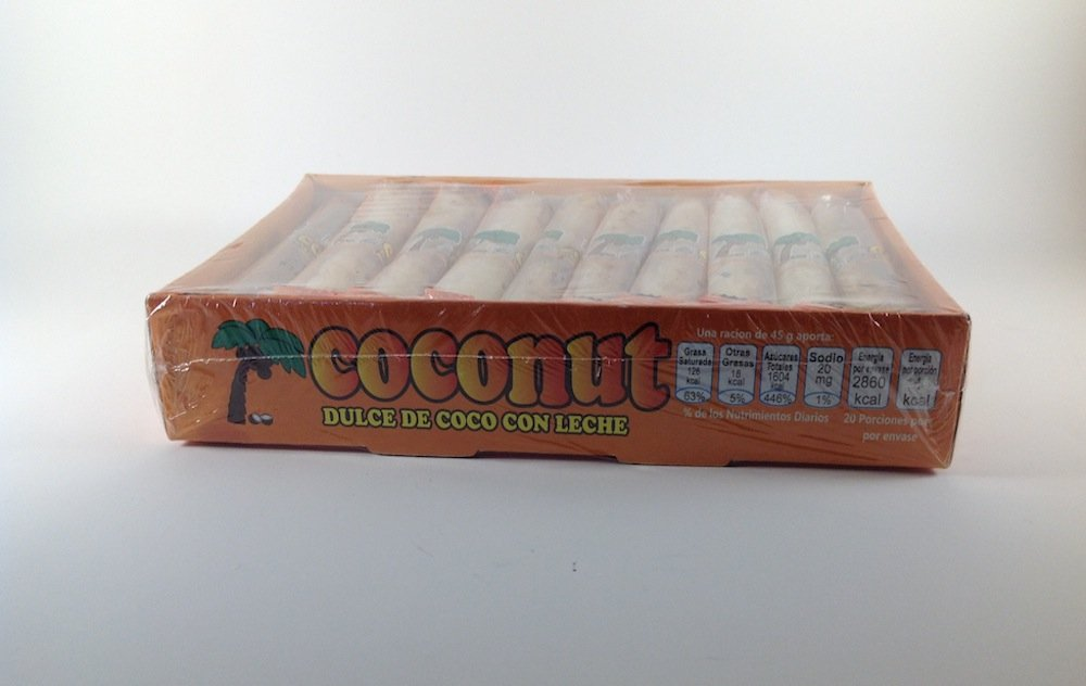 Amazon.com: BOX OF COCONUT CANDY WITH MILK CONTAINS 20 PCS OF 1.58 OZ Authentic Mexican Candy with Free Chocolate Kinder Bar Included: Toys & Games