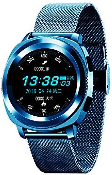 Man Go L2 IP68 Reloj de Salud Inteligente a Prueba de Agua, vigilancia de Salud de Deportes al Aire Libre Reloj Bluetooth para Android iOS Hombres y Mujeres/Los niños y los Ancianos