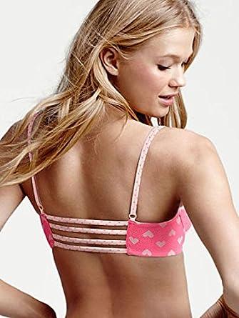 81a834013d10c Image Unavailable. Image not available for. Color  Victoria s Secret Cotton  Lingerie Push-Up Bra 34D Pink Hearts