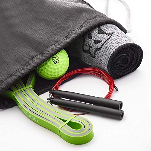 KONUNGR Workout Set for Home Fitness on Quarantine - Pull Up Band - Massage Ball - Sport Towel - Jump Rope - Stay at Home & Get Fit During Isolation 8