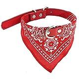 B-PING ペット 犬 首輪 ファッション 首輪ネッカチーフ おしゃれ かわいい ペット用品 ワンちゃん 小型アジャスタブルペット犬猫ネックスカーフ バンダナ (S, レッド)
