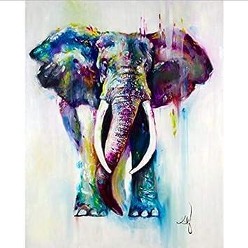 Arte y manualidades Actividades creativas 5D DIY Diamond Pintura Punto de Cruz Bordado Elefante Animales decoración del hogar sin Marco 40x50 Cm
