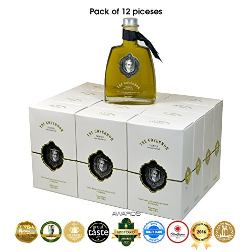The Governor, Premium Unfiltered Extra Virgin Olive Oil | Olive Oil Polyphenols with Robust Health-Giving Properties | Cold-Pressed Olive Oil |Luxury Glass Bottle 500ml (Pack of 12) by The Governor (Image #2)
