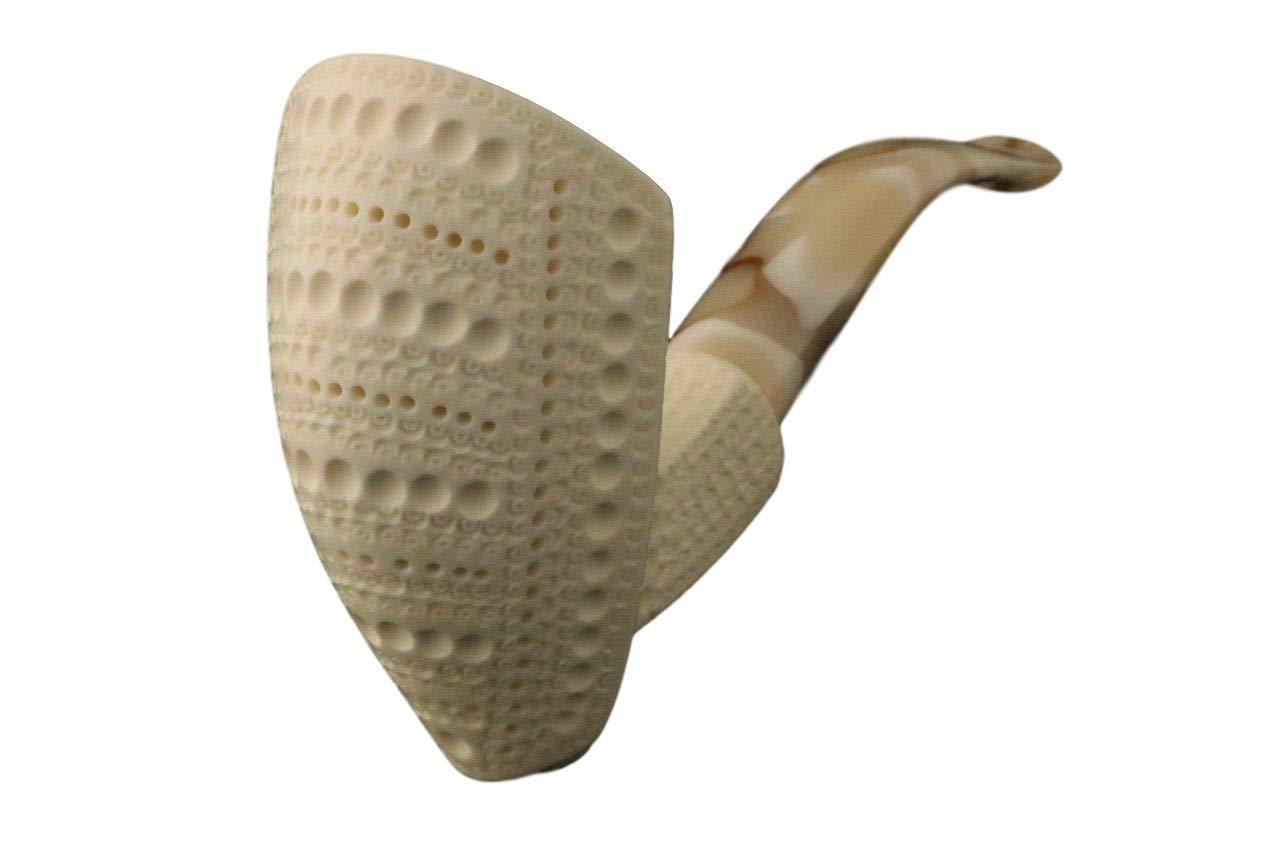 De La Creme - Meerschaum Pipe - Hand Carved from The Best Quality Block Meerschaum - Comes in a CASE - New