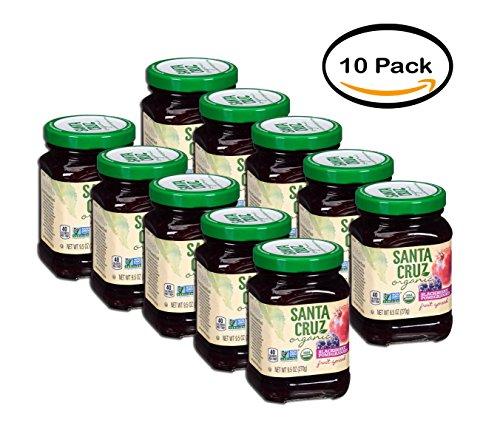 - PACK OF 10 - Santa Cruz Organic Blackberry Pomegranate Fruit Spread, 9.5 oz