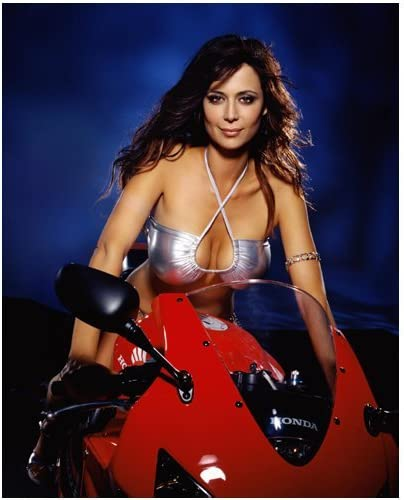 Catherine Bell 8x10 Photo Jag Army Wives King Maxwell On A Motorcycle At Amazon S Entertainment Collectibles Store
