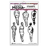 Ranger Abstract Figures Dina Wakley Media Cling Stamps 6''X9''