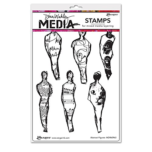 Ranger Abstract Figures Dina Wakley Media Cling Stamps 6''X9'' by Ranger