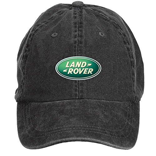 fengting Land Rover Logo Adulto Algodón Lavar gorra de béisbol con cierre de velcro ajustable sombreros tapas Negro