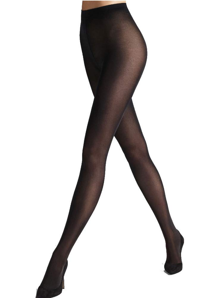 Wolford Satin 50 Opaque Tights-Medium-Dark Navy by Wolford