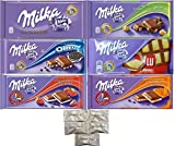 Assorted 6 Milka Chocolate (Oreo, Alpine Milk, LU, Milka Whole Nuts, Caramel, Strawberry). Includes Our Exclusive HolanDeli Chocolate Mints