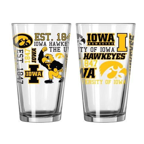 - NCAA Iowa - Spirit Pint Glasses (2) | Iowa Hawkeyes 16 oz. Beer Pints - Set of 2