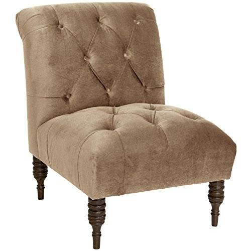 Skyline Furniture Tufted Chair in Mystere Mondo, Single - Skyline Upholstered Chair