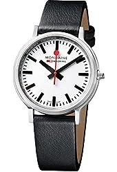 Mondaine Unisex A5123035816SBB Stop2go Analog Display Swiss Quartz Black Watch