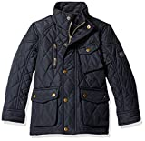 Joules Little Boys' Stafford Quilted Coat, Marine Navy, 6